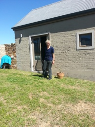 Tim in front of his cottage, Greyton, October 2014